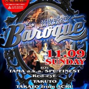 【DJ】11/9 SUN baroque @ACID ROOM